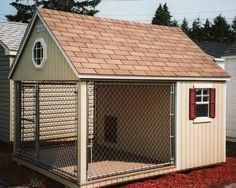 Homemade Dog Kennel Plans for large dogs | Large Wood dog kennel - Wooden Dog House, Kennel