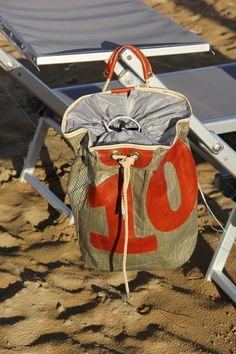 #Zaino / sacca in #kevlar con numero 10 in pelle #vela #sail #madeinitaly