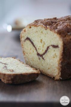 Cinnamon Sour Cream Bread // my absolute favorite quick bread recipe. It's almost like little slices of cake. So delicious!
