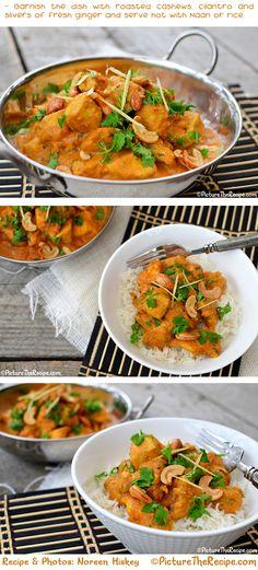 Cashew Chicken Curry Recipe by PictureTheRecipe