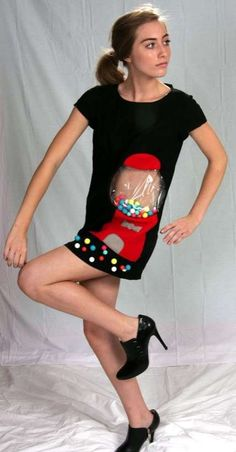 """Thou shall knowest why they call Etsy, """"Regretsy"""" Pregnancy Costumes, Maternity Costumes, Makeup Gone Wrong, Funny Costumes, Gumball, Mini Skirts, Short Sleeve Dresses, Style Inspiration, Shirt Dress"""