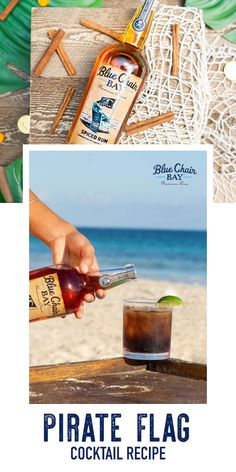 Pirate Flag is a refreshing two ingredient cocktail recipe that will take you less than 5 minutes to make. In a rocks glass fill with ice, pour Blue Chair Bay® Spiced Rum followed by cola. Stir, sit back and feel like a pirate. #bluechairbay #spicedrum #BCBHappyHour Blue Chair Bay Rum