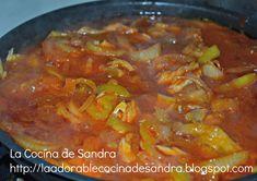 La Cocina de Sandra: BACALAO GUISADO CON BERENJENA