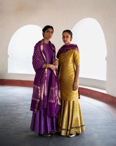 In 'Heer' we have revisited designs of century old Varanasi brocade textiles that founder Sanjay Garg has collected over the years. Silk Lehenga, Anarkali, Sari, Mode Bollywood, Bollywood Fashion, Indian Bollywood, Indian Wedding Outfits, Indian Outfits, Indian Weddings