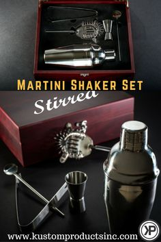 Custom Engraved Rosewood Finished Martini Set  $54.95 Personalized Martini Shaker Set! A beautiful piece for a gift! Give this one of a kind custom present for a Birthday, Father's Day, Mother's Day, Christmas, Wedding Gift, Groomsman Gift, and Bridesmaid Gift. Or buy one for yourself!