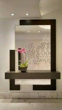 modern decorative wall mirrors design ideas for living room decoration 201 . - modern decorative wall mirrors design ideas for living room decoration 2019 – - Mirror Decor Living Room, Entryway Decor, Entrance Hall Decor, Entryway Console, Entrance Ideas, Flur Design, Wall Design, Wall Mirror Design, Modern Mirror Design