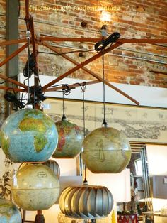 repurposed globe  | next was the booth of tony mccray his creatively repurposed globe ...