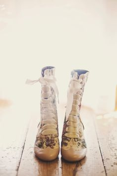 Victorian Inspired Bridal Shoes | Megan Burges Photography | TheKnot.com