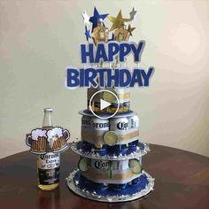 Beautiful Picture of Happy Birthday Cakes For Him . Happy Birthday Cakes For Him Happy Birthday Beer Cake Artatphoto Birthday Cakes For Men, Money Birthday Cake, Man Birthday, 21st Birthday Ideas For Guys, 30th Birthday For Him, Girlfriend Birthday, Husband Birthday, Corona Cake, Corona Beer