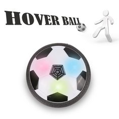 Hover Ball, HALOFUN Kids Air Power Soccer with Foam Bumpers and LED Lights, Disk Gliding Football Training Children Sport Toys for Indoor Outdoor. ❂ GLIDE FUNCTION & MODEST SIZE: This exciting soccer disk floats on a cushion of air, allowing it to glide over any smooth surface. With the modest size , neither too big nor too little. More suitable for multiplayer game. ❂ GOOD PROTECTION: Powerful fans create a cushion of air turning any surface into an instant playing field! The soft…