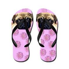 Pug Dog Flip Flops from Ritmo Boxer Designs