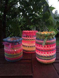 Crochet Club: summer nightlight jars on the LoveCrochet blog