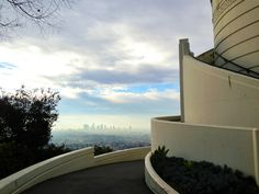 Griffith Observatory's Deco Curves and a view of downtown Los Angeles (shot with ProCamera)