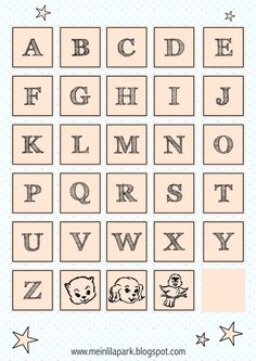 FREE printable alphabet letter tags
