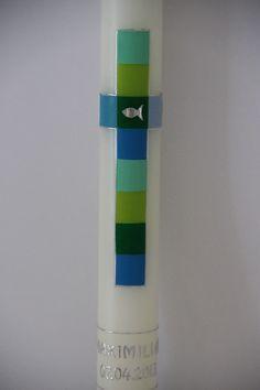 Taufkerzen - Taufkerze, Kommunionkerze - ein Designerstück von hand-art-beit bei DaWanda