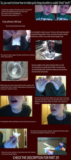 Cheap re-usable fake 'shark' teeth tutorial part 1 by Faxen.deviantart.com on @deviantART