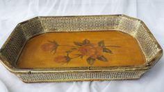 Decorative Wooden Serving Vanity Tray by TymelessTrinkets on Etsy