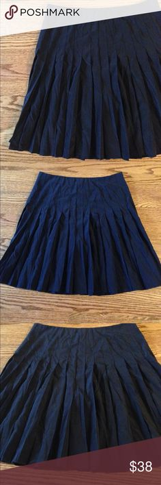DKNY silk black pleated skirt Perfect condition, just a little wrinkled. Bought from Bloomingdale's. NWT but the bottom part of tag is ripped. Dkny Skirts