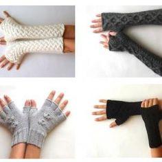 Knit Fingerless Gloves Patt..