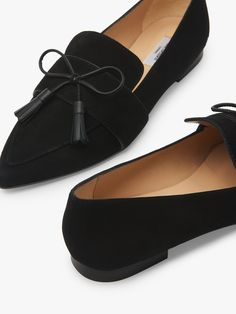 L.K.Bennett Celina Suede Tassel Loafers, Black