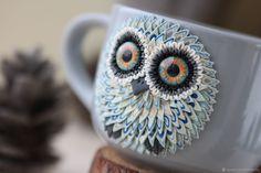 Купить Серая кружка с совой - 23 февраля, кружка, совы, супница, кружка в подарок