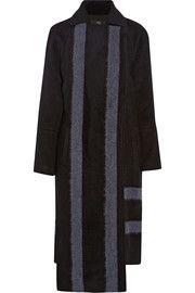 TibiAsymmetric wool-blend coat