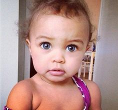 Beautiful baby girl with pretty eyes (Mix People With Blue Eyes) Cute Mixed Babies, Cute Babies, Babies Stuff, Kid Stuff, Beautiful Baby Girl, Beautiful Children, Pretty Eyes, Beautiful Eyes, Beautiful Things