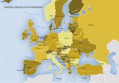 Európa országai fővárosokkal