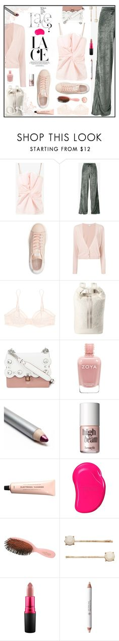 """""""Blush"""" by sue-mes ❤ liked on Polyvore featuring Jacquemus, Lot78, adidas Originals, RED Valentino, Eres, Puma, Fendi, Benefit, Tangle Teezer and Mason Pearson"""