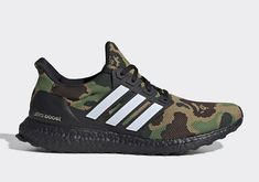 5f6b33447 Bape x Adidas Ultra Boost Green Camo Super Bowl size 13 US