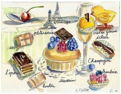 2012我要好好的画画,绘出最美味的 Paris breakfast