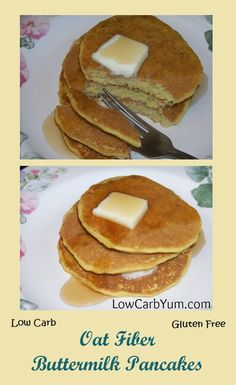 It's hard to tell that these oat fiber low carb buttermilk pancakes aren't the t. - It's hard to tell that these oat fiber low carb buttermilk pancakes aren't the traditional high - Low Carb Pancakes, Buttermilk Pancakes, Blueberry Pancakes, Fluffy Pancakes, Best Keto Breakfast, Breakfast Recipes, Breakfast Ideas, Breakfast Cups, Breakfast Cereal