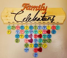 Doing one of these with the girls for the new home! Maybe I will remember all the important dates then! :)