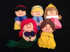 Disney princess felt finger puppets