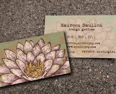 This lotus design is an ideal business card for a yoga teacher or massage therapist. The design is lovely way to promote your holistic healing practice. Buy 500 cards and get another 500 FREE! Business Card Maker, Business Card Logo, Business Card Design, High Quality Business Cards, Unique Business Cards, Identity Design, Brochure Design, Massage, Bussiness Card