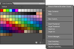 Photoshop Elements Tutorial: How to Load Color Swatches (can adjust for current versions of Photoshop)