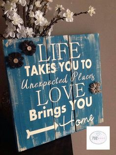 Hand painted Rustic pallet Sign life takes by PixieDustLouisville. Rustic Signs Home Decor Pallet Crafts, Pallet Art, Wood Crafts, Diy And Crafts, Pallet Ideas, Painted Signs, Hand Painted, Wood Projects, Craft Projects