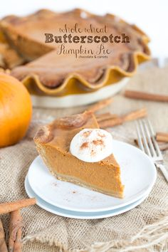 Whole Wheat Butterscotch Pumpkin Pie: A @Erin McCormick Spice recipe that will surely please! chocolateandcarrots.com
