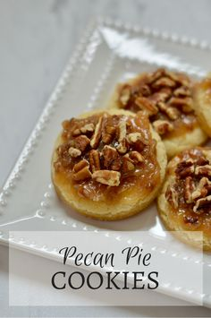 Pecan Pie Cookies: A bite-sized fall dessert that is perfect for Thanksgiving.