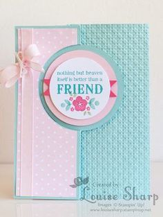 Louise Sharp: Just Add Ink - Blog Hop    Sentiment - Blessings from Heaven stamp set, Flower image from Kind & Cozy stamp set  :)