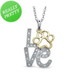 "I've tagged a product on Zales: ASPCA® Tender Voices™ Diamond Accent ""LOVE"" Paw Pendant in Sterling Silver and 10K Gold Plate"