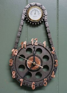 Clocks Made from Repurposed Materials http://hative.com/man-cave-stuff-ideas/