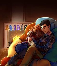 Frazel!!!!! AWWWW SO CUTE!!!!!!! other than percabeth and jasper and caleo they are my next favorite.        Can we just take a minute and appreciate Percy's stocking? ;)