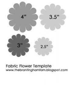 Fabric Flower Template-felt flowers for busy bag