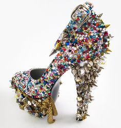 The Chiquita Shoe [by Patricia Field] is a serious Shoe Aspiration!  This is one badass custom shoe, with Swarovski and spike embellishments.