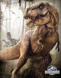 jurassic park world Chris Pratt is seen running for his life from the new Indominus Rex dinosaur in a series of four new posters from Jurassic World. Jurassic World Poster, Jurassic World T Rex, Dinosaur Movie, Dinosaur Art, Dinosaur Drawing, Dinosaur Crafts, Indominus Rex, Tyrannosaurus Rex, Jurrassic Park