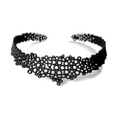 Sparkling collier nero by Dario Scapitta Design