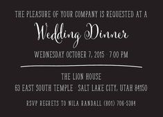 corie_fr_dinner_web Wedding Invitations