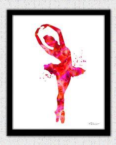 Red ballerina  https://www.etsy.com/listing/217847533/red-ballerina-3-ballerina-print