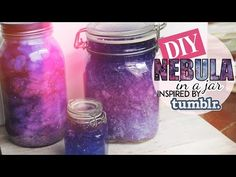 DIY Nebula in a Jar  Tumblr Inspired  TWO METHODS - YouTube